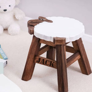 Personalised Wooden Sheep Stool - what's new