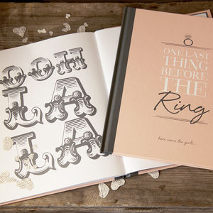 Personalised Hen Party Message Book