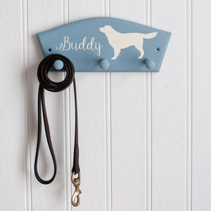 Personalised Golden Retriever Dog Lead Peg