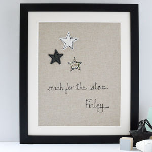 Personalised Reach For The Stars Artwork