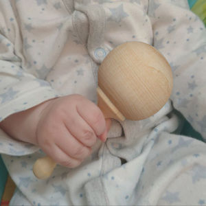 Natural Wooden Rattle - whatsnew