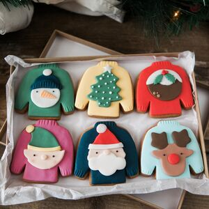 Novelty Christmas Jumper Biscuits