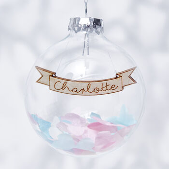 Confetti Personalised Bauble
