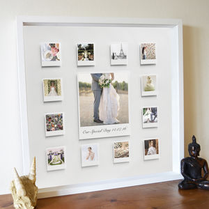 Personalised Wedding Celebration 3D Box Framed Print