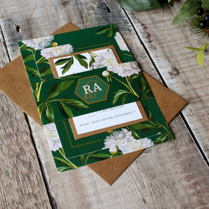 Irish Greenery Wedding Invitation Suite - hothouse wedding trend