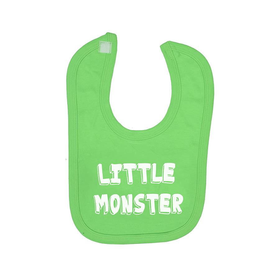little monster halloween baby bib