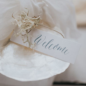 Fantasy Gift Tag - shoreline wedding trend