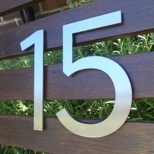 Marine Grade Stainless Steel House Numbers