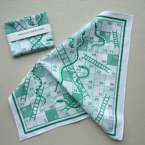 Snakes And Ladders Boardgame Hankie - handkerchiefs