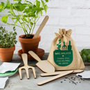 Personalised Thank You Teacher Gardening Growing Kit