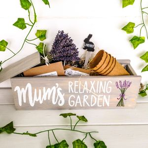 Personalised Grow Your Own Lavender Window Box Garden - gifts for mothers