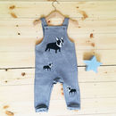 French Bulldog Grey Marl Baby/Toddler Dungarees