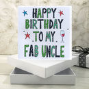 Personalised Uncle Birthday Book Card