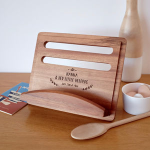 Personalised Recipe Cook Book Stand - aspiring chef