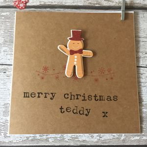 Personalised Gingerbread Man Christmas Card - cards & wrap