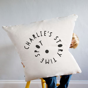 'Story Time Spot' Giant Floor Cushion - personalised cushions