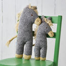 Dinky Donkey Soft Knit Toy