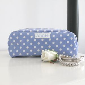 Personalised Spotty Make Up Bag