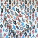Vintage Toy Robots Wrapping Paper