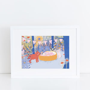 Woodland Nursery Print - drawings & illustrations