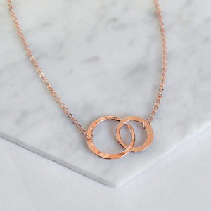 Rose Gold Eternity Circles Necklace - necklaces & pendants
