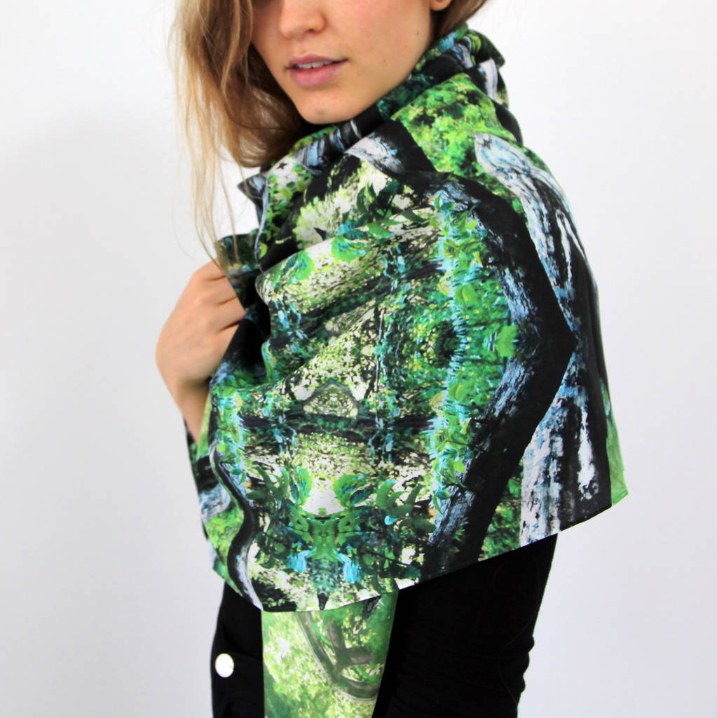 Nairobi Jungle Silk Scarf