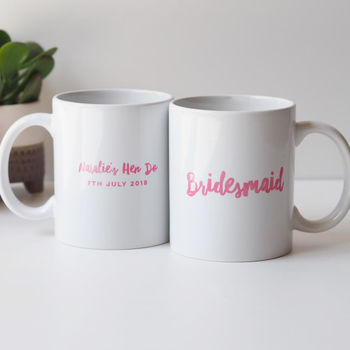 Personalised Bridesmaid Or Maid Of Honour Mug Gift