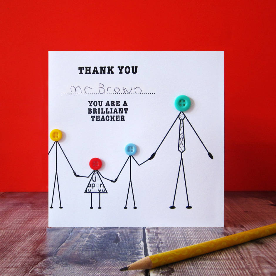 Thank You Teacher With Children Card By Mrs L Cards