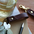 Personalised Leather Key Fob / Key Ring