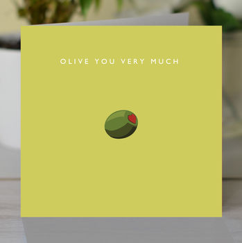 'Olive You' Romantic Card