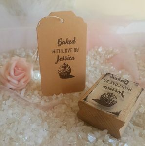 Personalised Baked With Love Cupcake Stamp - creative activities