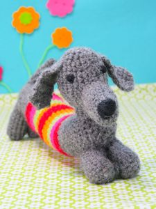 Childs Crochet A Sausage Dog Kit - creative kits & experiences