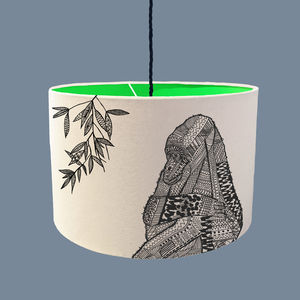 Gorilla Lampshade With A Range Of Colour Linings - lampshades