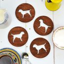 Wooden Border Terrier Dog Coasters