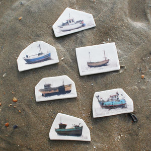 Boat Stoneware Brooches - pins & brooches