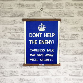 Retro 1940s Don't Help The Enemy Wwii Print