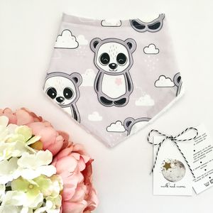 Panda And Cloud Dribble Bib