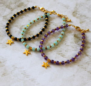 Children's 24ct Vermeil Gold Star Charm Bracelet