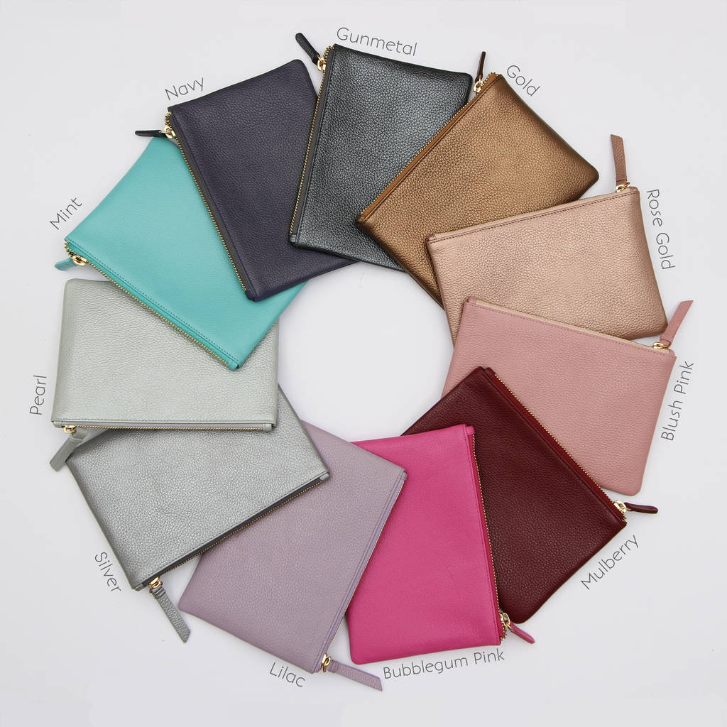7c667cdd7b9 personalised luxury pastel leather name clutch bag by hurleyburley ...
