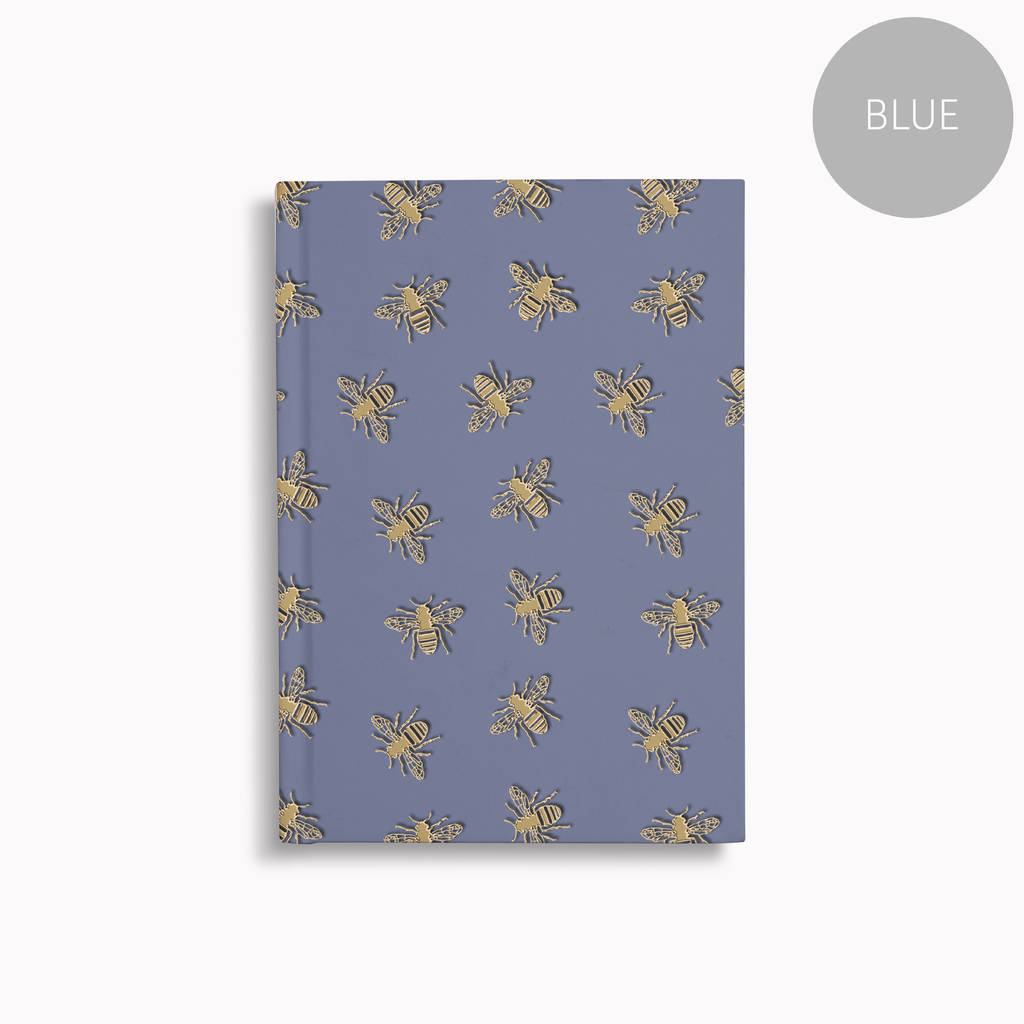 bees print a5 notebook lined plain or graph paper by harper