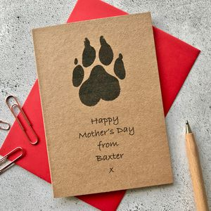 Dog Paw Print Mother's Day Card