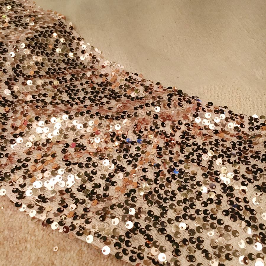 Gold Christmas Tree Skirts Part - 36: Hessian Christmas Tree Skirt With Rose Gold Sequin Trim
