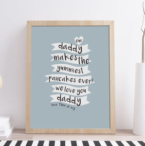 Personalised Fathers Day Kitchen Print - food & drink