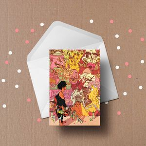 Grafity's Wall Illustrated Greeting Cards