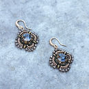 Vintage Style Blue Crystal Handmade Earrings