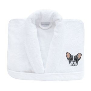French Bull Dog Personalised Bath Robe Collection - lounge & activewear