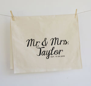 Wedding Tea Towel