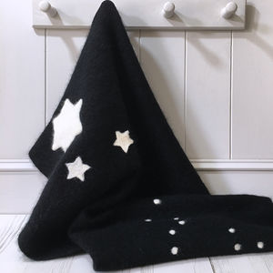 Constellation Cashmere Baby Blanket - sleeping