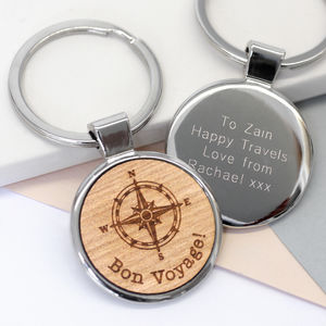 Personalised Compass Key Ring - men's accessories