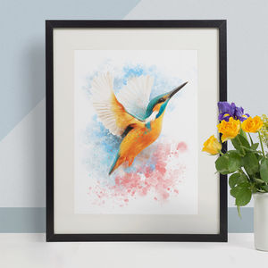 Kingfisher Animal Print, Wildlife Art Print